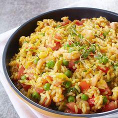 Paistettu riisi paellan tapaan