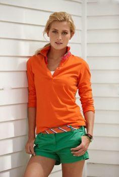 orange + green summer trends
