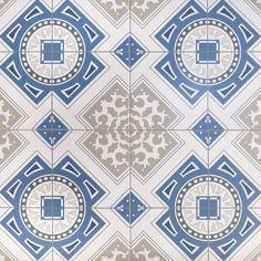 Peregalli Azul Porcelain Tile - 18 x 18 - 100340918 Blue Glass Tile, Kropf, Polished Porcelain Tiles, House Tiles, Commercial Flooring, Style Tile, Floor Decor, Tile Patterns, Runes