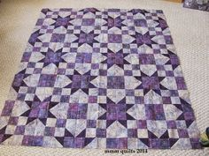 mmm quilts: Purple Crossroads--Heavy Metal Quilting