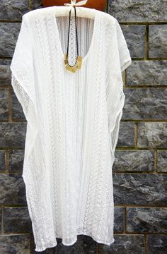 Ivory Coverup, Ivory Beach dress, Lace Caftan, Swimsuit cover up
