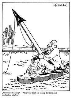 een cartoon van de Cubacrisis