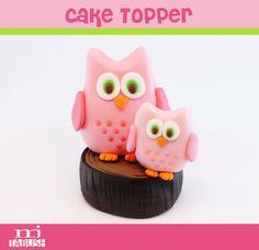 Owl Cake topper/ Fondant Owl/ Edible Owl/ by LittleOrchidStudio Owl Cake Toppers, Fondant Cake Toppers, Cupcake Cakes, Cupcakes, Fondant Owl, Fondant Animals, Owl Birthday Parties, Birthday Ideas, Gum Paste