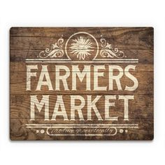 Farmers Market Sign Stained Wood table top?
