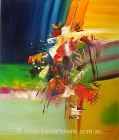 Original Mix color Abstract Oil Painting on Canvas by http://bestartdeals.com.au  , $74.25.