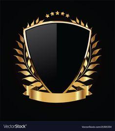 Escudo de ouro e preto com louros de our. Logo Esport, Art Logo, Spartan Logo, Game Logo Design, Shield Logo, Studio Logo, Gold Logo, Creative Logo, Christian Posters