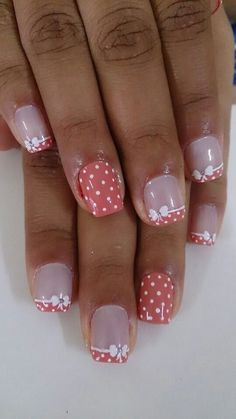 70 Trendy Spring Nail Designs are so perfect for this season Hope they can inspire you and read the article to get the gallery. Fingernail Designs, Toe Nail Designs, Fancy Nails, Pretty Nails, French Nail Art, French Polish, Manicure E Pedicure, Cute Nail Art, Fabulous Nails