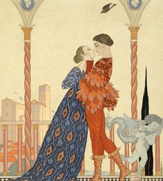 Georges Barbier Lovers On A Balcony print for sale. Shop for Georges Barbier Lovers On A Balcony painting and frame at discount price, ships in 24 hours. Cheap price prints end soon. Canvas Wall Art, Wall Art Prints, Fine Art Prints, Canvas Prints, Courtly Love, Book Illustration, Illustrations, Find Art, Framed Artwork