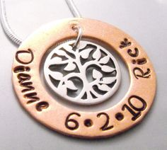 Happy Couple Copper and Sterling Silver by CourtenayJDesigns, $40.00