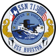 USS Houston (SSN-713), a Los Angeles-class attack submarine, was the fourth ship of the United States Navy to be named for Houston, Texas. The contract to build her was awarded to Newport News Shipbuilding and Dry Dock Company in Newport News, Virginia on 1 August 1975 and her keel was laid down on 29 January 1979. She was launched on 21 March 1981