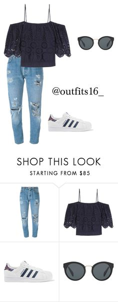 """""""Untitled #513"""" by merywalls02 ❤ liked on Polyvore featuring Levi's, Ganni, adidas Originals and Prada"""