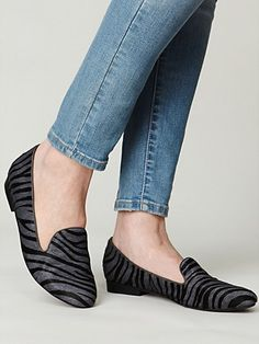 zebra print loafers...jeff campbell