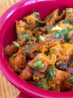 Sweet Potato Salad with green chilies - we will so be making this again.