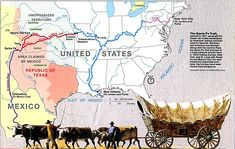 Santa Fe Trail Map, Western United States. This will be great with Tree in the Trail.