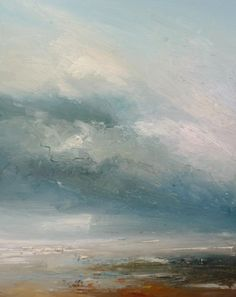 'Twilight (series)' by Claire Wiltsher 80x100cm mixed media £1200 now at www.lyndhurstgallery.com