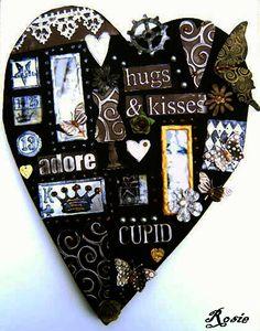 Mixed Media Mosaic - Heart