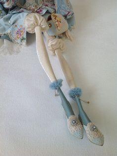 Кукольная мастерская ANNADAN: Куклу зовут Софи. Бескаркасная, будуарная кукла.