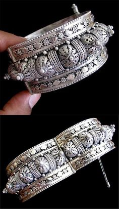 Handcrafted contemporary traditional Yemenite fine filigree sterling silver bracelet   1,050$
