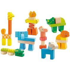 Construcci�n animales de madera 52 piezas - Djeco