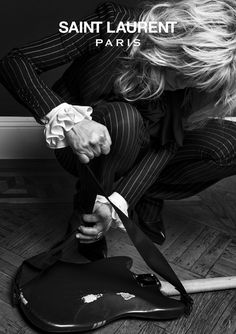 Courtney Love by Hedi Slimane for Saint Laurent Paris FW2013