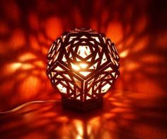 Geometric Cardboard Lamp and other cool things to make out of cardboard