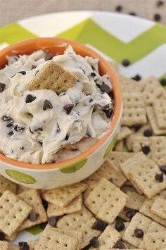 Chocolate Chip Cookie Dip for fruit and pretzels