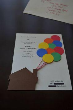 """""""Up"""" Themed Birthday Party - Handmade Invitations"""