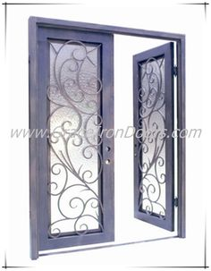 Concorde 3d double entry doors hand crafted sandblast for Custom made exterior steel doors