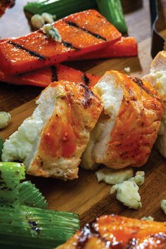 Grilled Buffalo Blue Cheese-Stuffed Chicken Breasts with Grilled Carrots & Celery — can you say that three times fast? Chicken Breasts, Chicken Wings, Pepperidge Farm Cookies, Grilled Carrots, Main Dishes, Side Dishes, Cheese Stuffed Chicken, Angus Beef, Blue Cheese