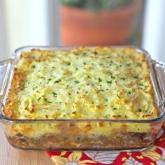 Vegetarian shepherd's pie.