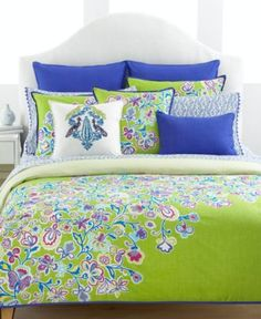 Tommy Hilfiger Bedding, Folklore European Sham - Bedding Collections - Bed & Bath - Macy's