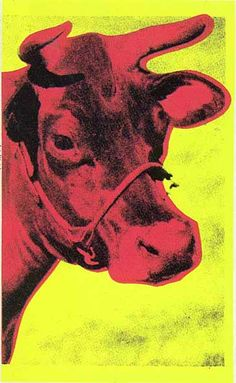 'Vache', huile de Andy Warhol (1928-1987, United States)