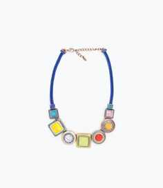 ZARA - WOMAN - NECKLACE WITH GEOMETRIC RHINESTONES