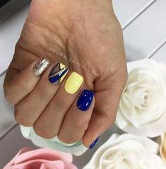new ideas nails art blue yellow - - new ideas nails art blue yellow Nails! Yellow Nails Design, Yellow Nail Art, Blue Nail Designs, Neon Nails, Blue Nails, Hair And Nails, My Nails, Super Nails, Nagel Gel