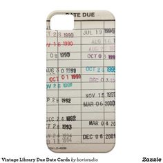 Vintage Library Due Date Cards Case-Mate iPhone Case