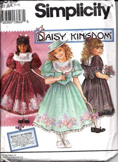 Daisy Kingdom Dress with Attached Petticoat by DawnsDesignBoutique, $9.00 Made this 2x... Fun!!!