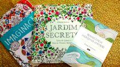 Meus livros de colorir: As Cores da Imaginação- Ed. Ciranda Cultural/ Jardim Secreto-Ed. Sextante/ Mindfulness - O livro de colorir - Ed.  Best Seller