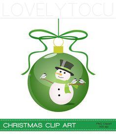 #Snowman bauble #Christmas decoration #digital png #clip art by Lovelytocu