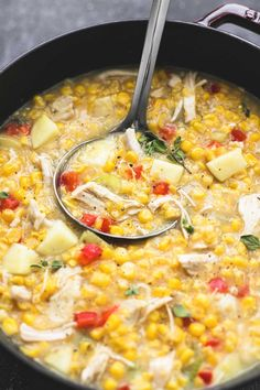 This leftover turkey corn chowder comes together in about 30 minutes and is the most delicious soup to use up that leftover Thanksgiving turkey.