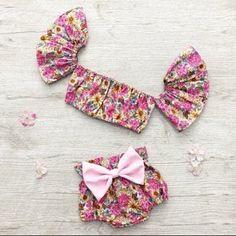 59 Ideas for sewing baby set children Girls Summer Outfits, Summer Girls, Kids Outfits, Spring Summer, Summer Set, Outfit Summer, Toddler Outfits, Baby Girl Fashion, Toddler Fashion