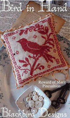 Blackbird Designs - Reward of Merit Pincushion