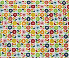 Image of Scandinavian Fabric - Graphic Flowers Scandinavian Fabric, Scandinavian Design, Floral Fabric, Fabric Flowers, Diy Cushion, Marimekko, Vintage Pink, Textile Design, Design Inspiration