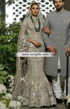 On-Trend Mermaid Lehenga for Valima or Reception Make your wedding day an ultimate with this on-tre Pakistani Bridal Dresses, Pakistani Outfits, Indian Dresses, Bridal Gowns, Designer Bridal Lehenga, Asian Wedding Dress, Asian Bridal, Braut Shirts, Bridal Shirts