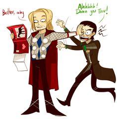 lol  Loki and his crazy children-http://nadiezda.tumblr.com