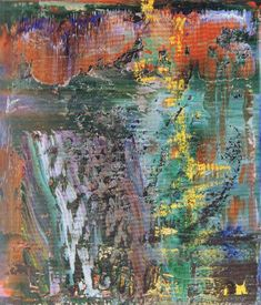 Gerhard Richter, Abstraktes Bild (Abstract Painting), 1989. Oil on canvas. 72cm H x 62cm W. (704-1]