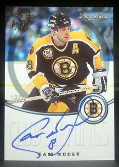 Boston Bruins Cam Neely Topps 2000 01 Premier Plus Auto Issue Card Rare   BostonBruins 61e38f16e