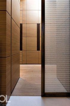 Dressing room, Villa Espinette by Hélène et Olivier Lempereur _ Hotel Corridor, Interior And Exterior, Interior Design, Wardrobe Cabinets, Wardrobe Closet, Wardrobe Design, Closet Designs, Wall Treatments, Contemporary Design