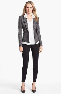 Elie Tahari 'Minka' Metallic Tweed Jacket   Nordstrom