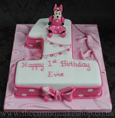 Minnie Mouse Number One - 1st Birthday Cake