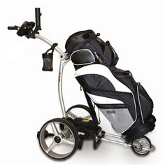 #BatCaddyX4Pro #ElectricCaddy comes with one-piece folding design that makes it easy to fold into a size smaller than most regular push carts & weighs only 22 lbs. http://www.sunrisegolfcarts.com/Bat-Caddy-p/bc-x4p.htm